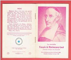 IMAGE PIEUSE RELIQUAIRE RELIQUE DE FRANCOIS DE MONTMORENCY LAVAL 1623 MONTIGNY SUR AVRE 1708 QUEBEC EVEQUE DU CANADA - Religion & Esotérisme