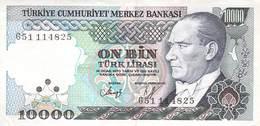 10000 Türk Lira Banknote Türkei VF/F (III) 1970 - Turchia