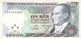 10000 Türk Lira Banknote Türkei VF/F (III) 1970 - Turkije