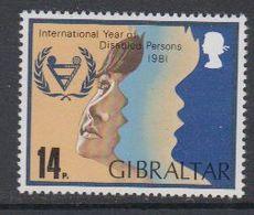 Gibraltar 1981 International Year Of Disabled Persons 1v ** Mnh (42901E) - Gibraltar