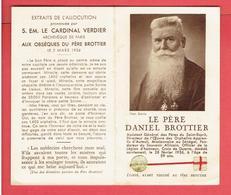 IMAGE PIEUSE RELIQUAIRE RELIQUE DU PERE DANIEL BROTTIER 1876 LA FERTE SAINT CYR 1936 PARIS ETOFFE AYANT TOUCHE AU PERE - Religion & Esotericism