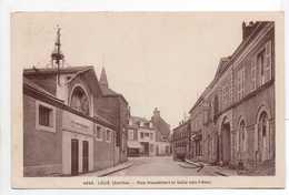 - CPSM LOUÉ (72) - Rue Houdebert Et Salle Des Fêtes 1950 - Photo A. Dolbeau 4645 - - Loue
