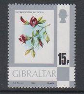 Gibraltar 1980 Flowers 15p Value  ** Mnh (42901G) - Gibraltar
