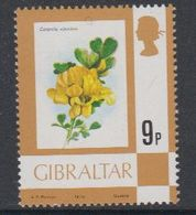 """Gibraltar 1978 Flowers 9p Value """"1978"""" ** Mnh (42901G) - Gibraltar"""
