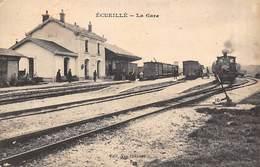 Ecueillé        36       Intérieur De La Gare     (voir Scan) - Autres Communes