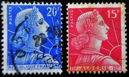 ALGERIE Yt 329 ,  349 Marianne De Muller - Algérie (1924-1962)