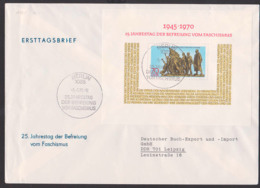 Buchenwald Gedenkstätte FDC DDR Block 32 26. Jahrestag Der Befreiung Vom Faschismus SoSt. Berlin - [6] Oost-Duitsland