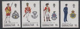 Gibraltar 1974 Uniforms 4v ** Mnh (42901H) - Gibraltar
