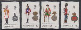 Gibraltar 1973 Uniforms 4v ** Mnh (42901M) - Gibraltar