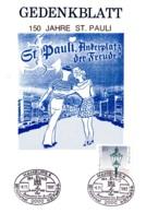 1983 - Gedenkblatt 150 Jahre St.Pault - Briefmarken