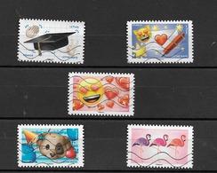 France 2018 Oblitéré Autoadhésif  N° 1560 - 1562 - 1564 - 1566 - 1567 -   EMOJI Les Messagers De Vos émotions - Francia