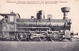 Gekuppelte Güterzugs-Lokomotive IV C Der Aussig-Teplitzer Eisenbahn.1899 - Trains