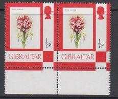 Gibraltar 1982 Definitive / Flower 1/2P (pair) ** Mnh (42901Q) - Gibraltar