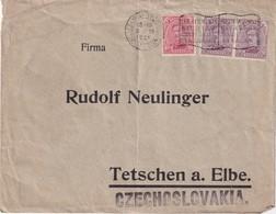 BELGIQUE 1921 LETTRE  DE BRUXELLES  POUR TETSCHEN - Belgio