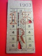 1903-METROPOLITAIN BUS à IMPERIALE  A RUSSELL MOTOR SERVICE LONDON-Titre De Transport Billet Transport Ticket Single - Europa