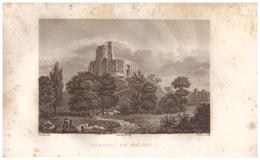 1836 - Gravure D'après Civeton - Gisors (Eure) - Le Château - FRANCO DE PORT - Stampe & Incisioni