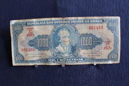 28 / Republica Dos Estados Unidos Do Brasil - 1000 Cruzeiros Pedro Alvares Caral - Estampa 1A .Série 3787.A / N° 0614643 - Brasilien