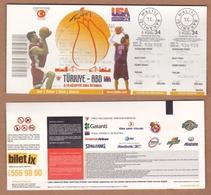 AC - TURKEY V USA - UNITED STATES OF AMERICA 08 - 10 AUGUST 2004 ISTANBUL BASKETBALL TICKET - Match Tickets