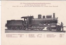 Vierylinderverbundschnellzuglokomotive IV C Der Kgl Preuss.Staatsbahn Serie S5 1902 - Trains