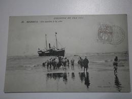 Maroc. Campagne Du Maroc. Colonne De Fez 1911. Medhya, Un Navire à La Côte (A8p67) - Marokko