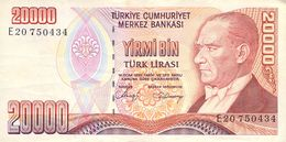 20000 Türk Lira Banknote Türkei VF/F (III) 1970 - Turquie