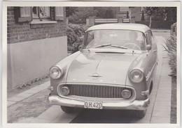 AUTO-VOITURE-OPEL-RECORD-ORIGINAL PHOTO-ANNEES '60-BELGIQUE-DIMENSIONS+-9-12.5 CM - Automobile