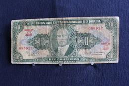 29 /  Republica Dos Estados Unidos Do Brasil -  10 Cruzeiros  -  Estampa 2A . Série 3250 .A  / N° 089912 - Brésil