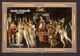 CONGO   Painting, S.Botticelli,   SS  Imperf. - Fantasie Vignetten