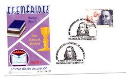 Carta Con Matasellos Commemorativo Nacimiento De Ausias March. 1997 - 1931-Hoy: 2ª República - ... Juan Carlos I
