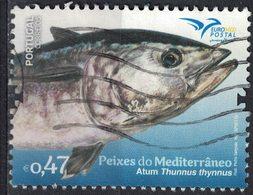 Portugal 2016 Oblitéré Used Poissons De La Méditerranée Thunnus Thynnus Atum Thon SU - 1910-... République