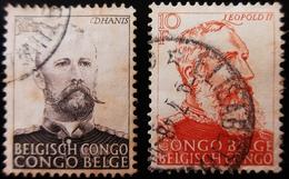 1947/1951 CONGO BELGE Yt 276 , 301, LEOPOLD II - DHANIS - Belgisch-Kongo