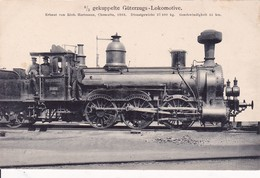 Gekuppelte Güterzugs-Lokomotive Chemnitz.1868 - Trains