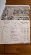 FACTURE ET LETTRE DE CHANGE 1925 LEFEVRE UTILE BISCUITS LU A NANTES - 1900 – 1949