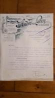 FACTURE 1917 ANDRE LEROY SOCIETE CIVILE DES PEPINIERES A ANGERS - 1900 – 1949
