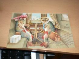 April Fools' Day, 1er Avril, 1st April, Fish In Train, Le Voyage, Vintage - 1° Aprile (pesce Di Aprile)