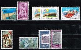 ESPAGNE / NEUFS**/MNH**/ 1973 -  Lot De 9 Valeurs - 1971-80 Nuovi