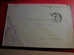 1915 - CADM 48é Regiment D'Infanterie-Gingamp Marcophilie Lettre F.M Guerre 1914-18 P Bureau Central Mobilisateur Paris - Marcofilia (sobres)