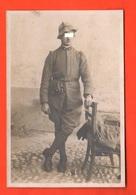 Alpino In Posa Foto Anni 1915 1920 Italian Soldier - Guerra, Militari