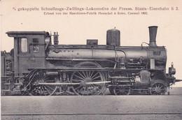 Gekuppelte Schnellzugs-Lokomotive Des Preuss.Staats-Eisenbahn Cassel 1892 - Trains
