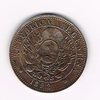 //  ARGENTINA  2 CENTAVOS 1892 - Argentine