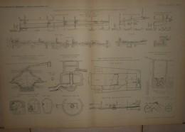 Plan De La Première Application Faite à Paris En 1883 De L'assainissement Suivant Le Système WARING.1884. - Obras Públicas