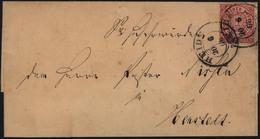 Altdeutschland Norddeutscher Bund Brief EF Nr. 4 Mit K2 Heide Nach Henstedt - Schleswig-Holstein