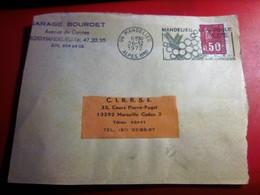France Marcophilie Timbre Seul Sur Devant De Lettre ENTÊTE CAD FLAMME MIMOSAS MANDELIEU-NAPOULE  1972 - 1961-....