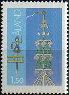 """PIA - ALA - 1985 - Folclore Locale - """"Palo Di San Giovanni"""" - (Yv 10) - Aland"""