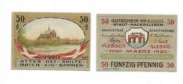 DANEMARK / DENMARK -  HADERSLEBEN / 50 PFENNIG 1920 - Danimarca