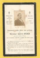 CARTE MEMOIRE MORTUAIRE GENEALOGIE FAIRE PART DECES  ARCHEN UCKANGE MOSELLE 1850 1902 - Décès