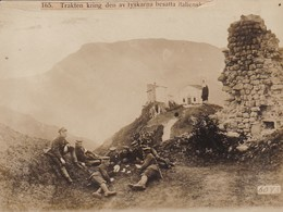 Foto Deutsche Soldaten Beim Kartenspiel An Der Italienischen Front -  Pressefoto - 1. WK - 16*12cm (41502) - Oorlog, Militair