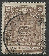 Southern Rhodesia, / B.S.A.Co., 1898, Arms, 2d Used, MAKUKUPEN C.d.s. - Southern Rhodesia (...-1964)