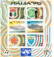 Francobolli Coppa Del Mondo Di Calcio «Italia '90» Foglietto Num.4 - 6. 1946-.. Republic