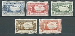 SENEGAL 1940 . Poste Aérienne . Série N°s 13 à 17 . Oblitérés . - Poste Aérienne